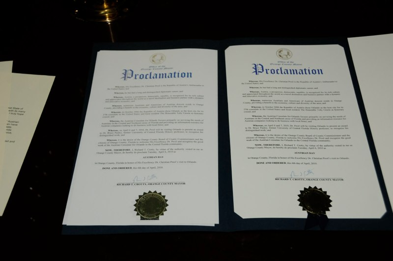 Proclamation Mayor Richard Crotty